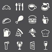 Restaurant Icons - White Series