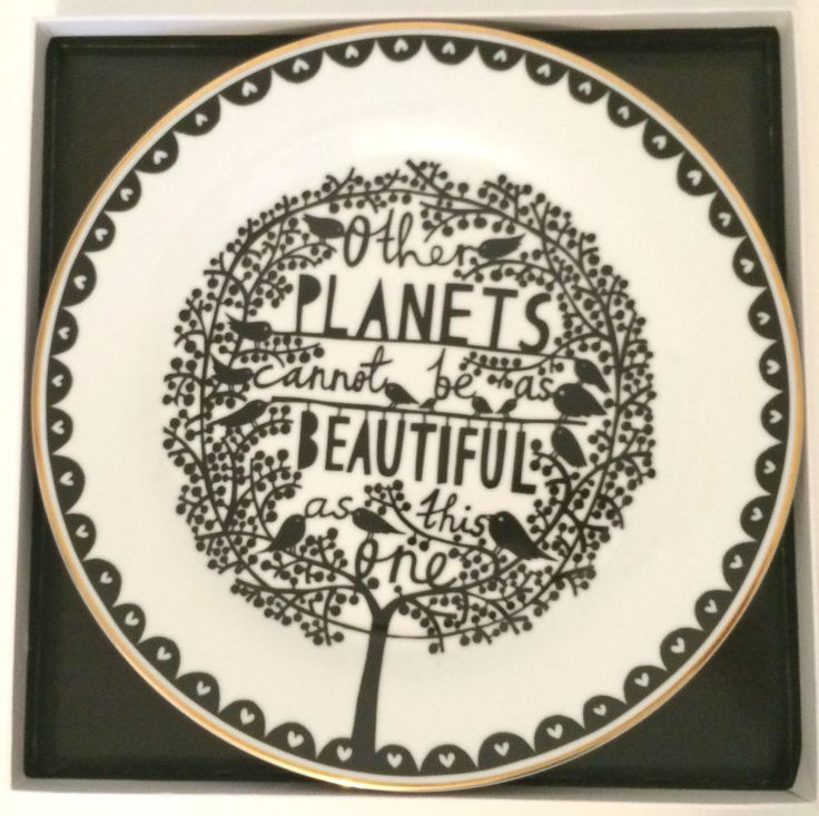 Rob Ryan  Other Planets  Gold Rim Plate