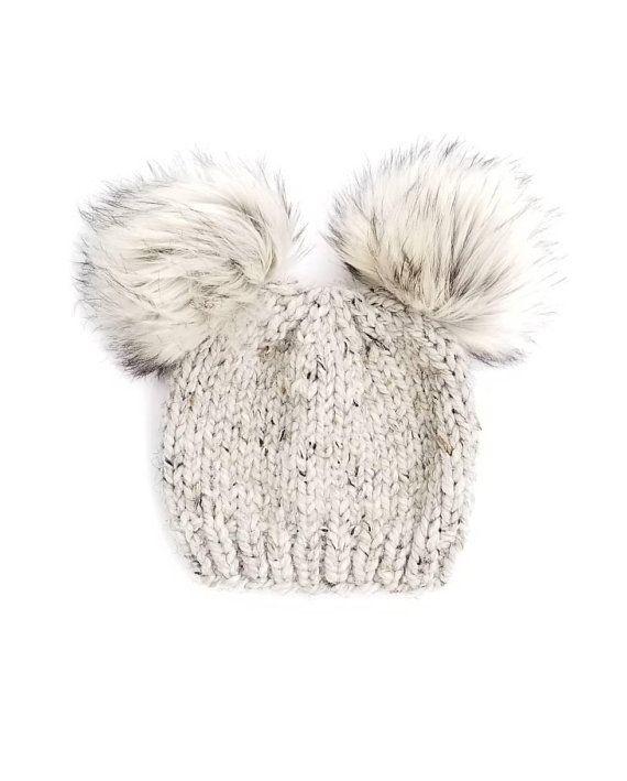 ea262d57d8781 Baby Fur Pom Pom Hat Fur Pom Pom Beanies Toddler Hat for Girls