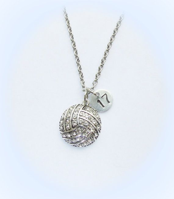 Best 25 volleyball necklace ideas on pinterest volleyball ideas personalized volleyball necklace with initial or number charm volleyball team gift volleyball mom coach senior gifts aloadofball Choice Image