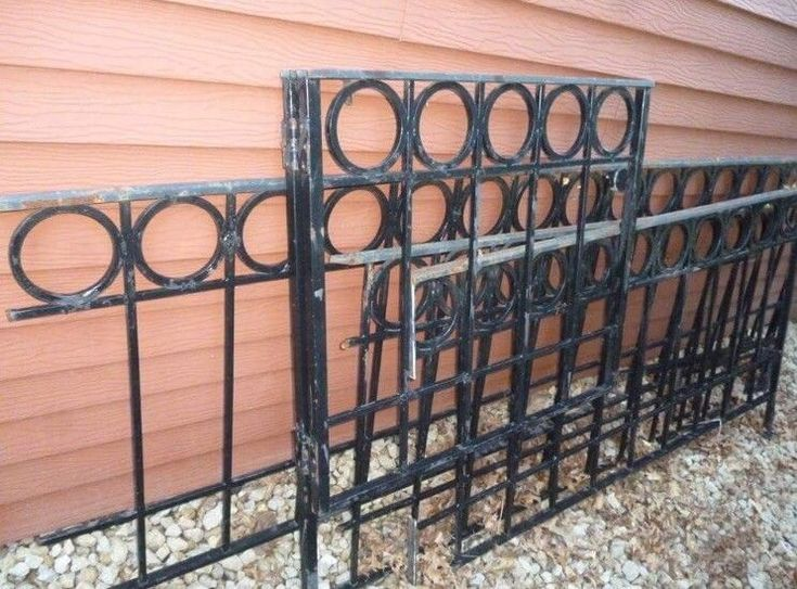 Architectural Mid Century Modern Iron Fence And Gate