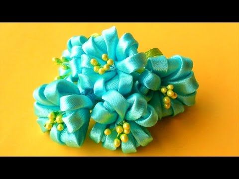 Kanzashi Flowers Tutorial.
