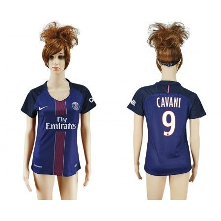 PSG Fotbollskläder Kvinnor 16-17 Edison #Cavani 9 Hemmatröja Kortärmad,259,28KR,shirtshopservice@gmail.com