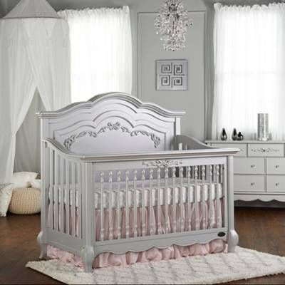 Product Image for evolur™ Aurora 5-in-1 Convertible Crib in Akoya Grey Pearl 2 out of