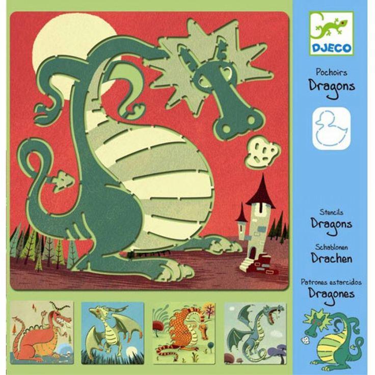 tekensjablonen draken djeco | ilovespeelgoed.nl
