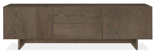 Hudson Media Cabinets with Wood Base - Modern Media Storage - Modern Living Room Furniture - Room & Board