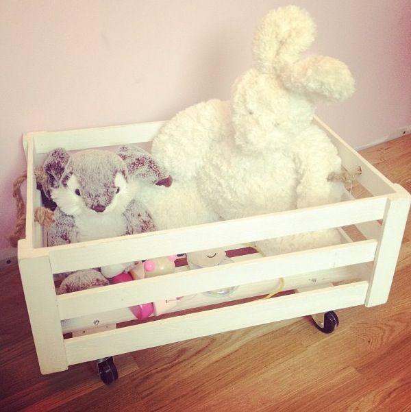 Leksaksförvaring på hjul