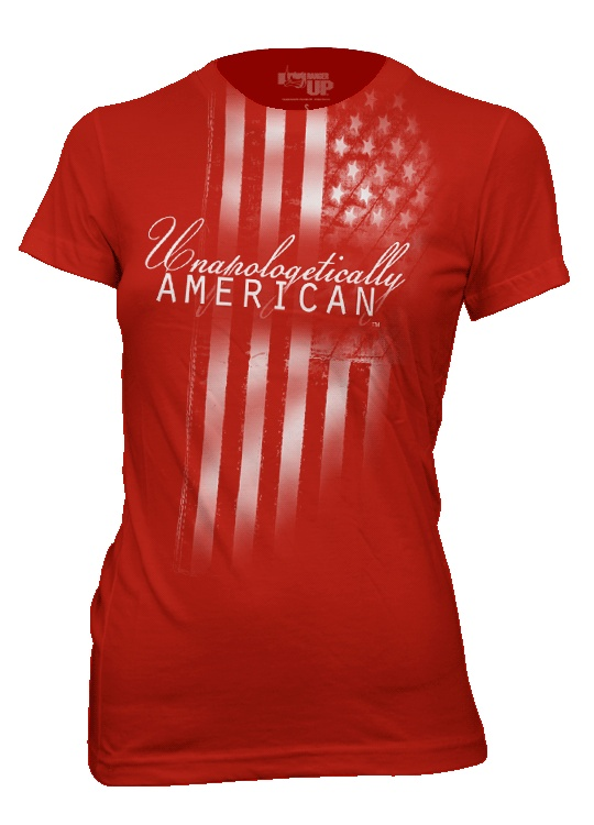 Unapologetically American FLAG Shirt Womens