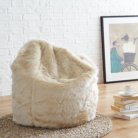 Buy John Lewis Fur Bean Bag Online at johnlewis.com