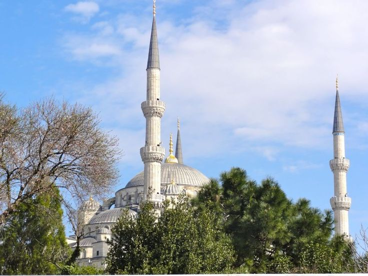 Dietro di noi, troneggia l'imponente Moschea Blu, costruita dal sultano Ahmed I nel XVII secolo e dotata di ben 6 minareti (invece dei 4 tradizionali) per rivaleggiare con Hagia Sophia (che in origine era la chiesa di Santa Sofia), posta proprio di fronte.