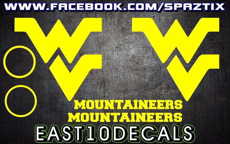 West Virginia Mountaineers WV Cornhole Decal sticker 6 pc Set package deal!  #Unbranded