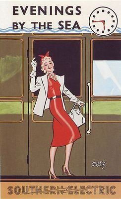 1930's Southern Rail Evenings By Sea Poster by VintagePosterShopUK