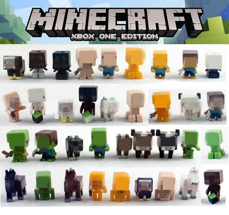 36pcs/lot Minecraft More Characters Hanger Creeper Action Figure Toys //Price: $22.00 & FREE Shipping //     #love