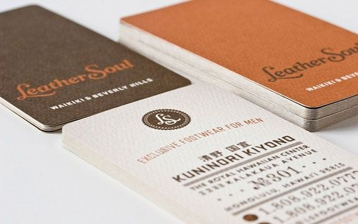 Retro style business cards with rounded corners