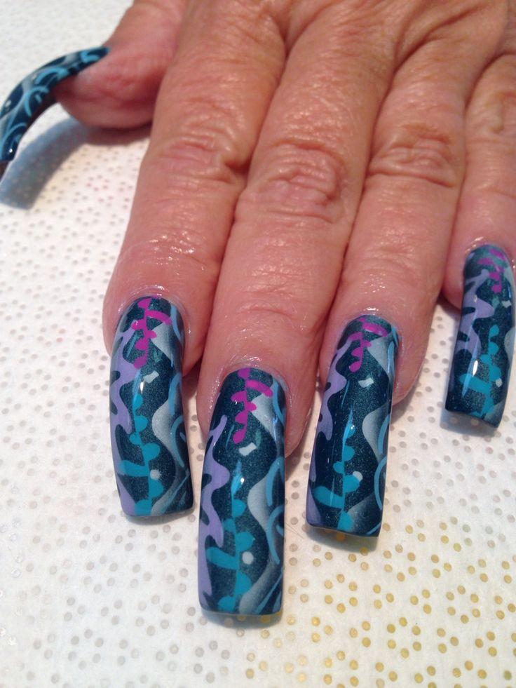 The 25 best airbrush nail art ideas on pinterest 3d nail art airbrush nail art prinsesfo Gallery