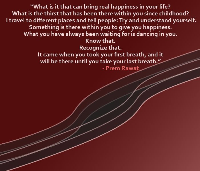 What is it that can bring real happiness? - www.wopg.org - Words of Peace