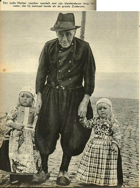 Marken visser kleinkinderen 1940