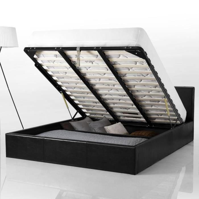 Lit coffre 180x200 cm, Smart - Achat / Vente structure de lit - Cdiscount