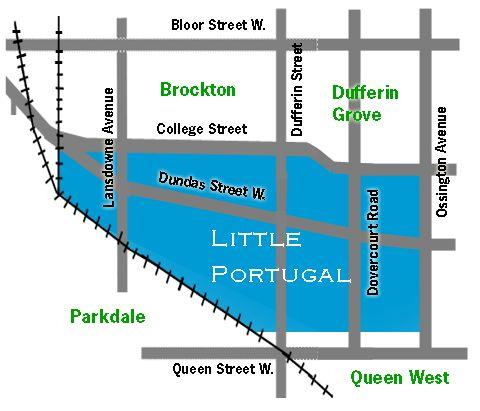 Little Portugal Toronto Map