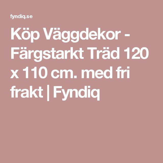 Köp Väggdekor - Färgstarkt Träd 120 x 110 cm. med fri frakt | Fyndiq