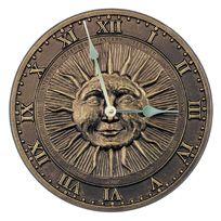 Sunface Indoor/Outdoor Wall Clock French Bronze