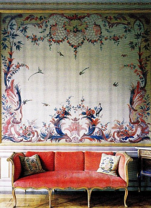 Stora Wäsby Castle 1750. Ladies' Drawing Room: