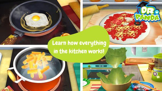 Dr. Panda's Restaurant 2 ($2.99)  Sweet or salty? Spicy or bitter? Kids can take charge in their own kitchen in Dr. Panda's Restaurant 2! Future chefs choose what they want to prepare & exactly how they'd like to prepare it! Chop, grate, blend, fry & more with over 20 ingredients and create the perfect (or perfectly disgusting!) dish! Feed them to your customers & pay attention to how they react.