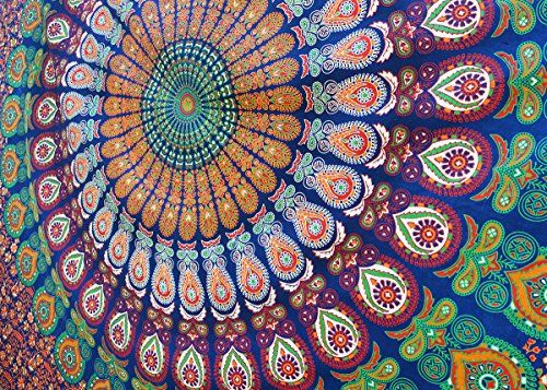 52 x 33 inches Indian Wall Hanging Handmade Tapestry Ethnic Decor India