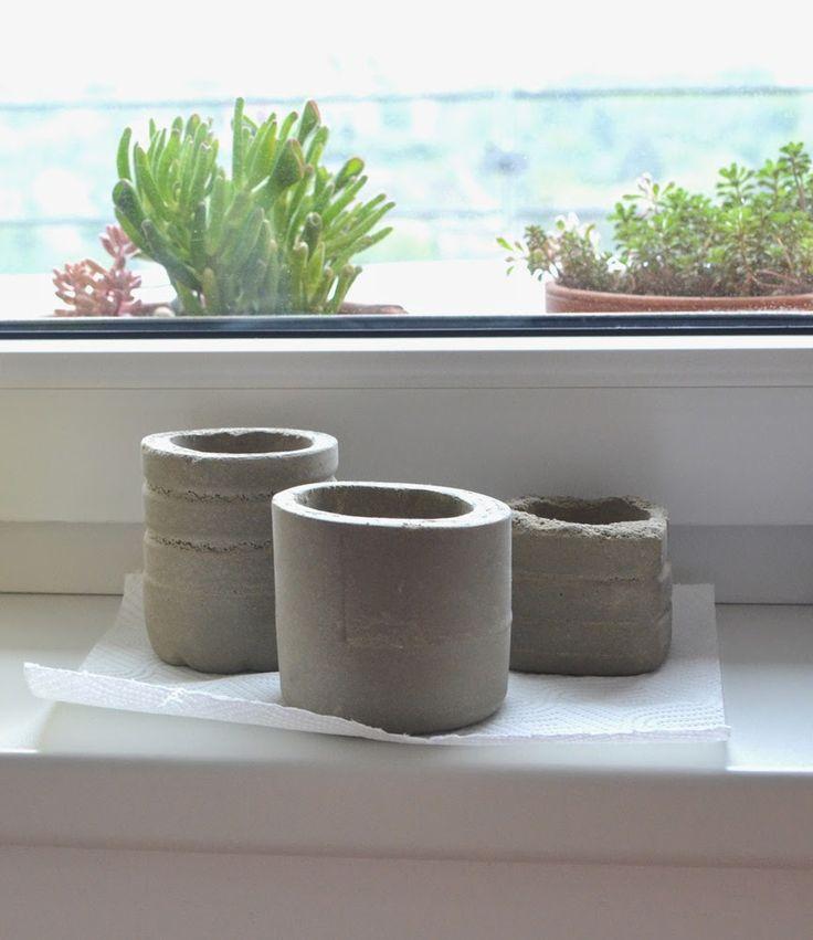 by myyna: betonové květináče