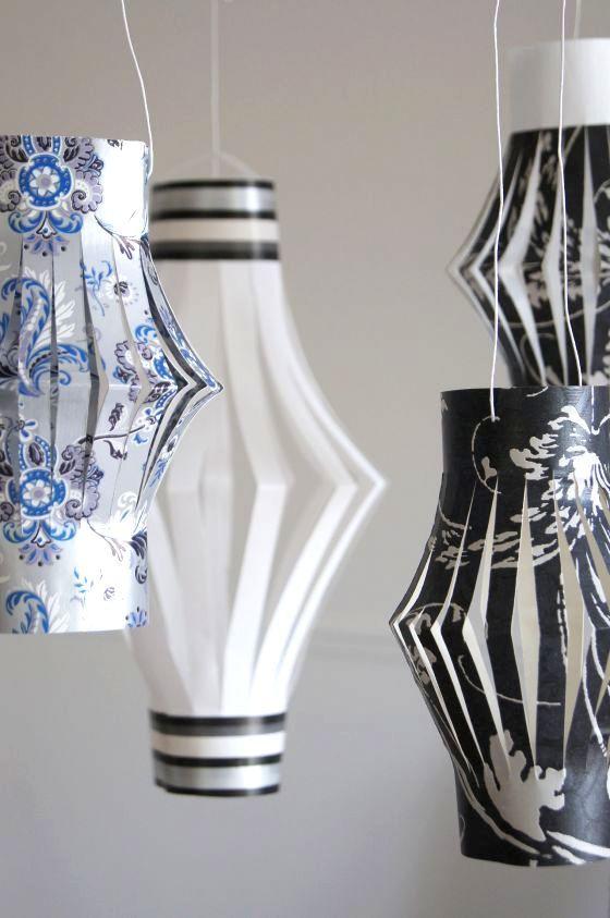 Paperilyhdyt ovat näyttäviä ja nopeatekoisia kesäjuhlien koristeita. Ideakin on yksinkertainen – taitetaan paperi vaakasuorassa puoliksi, le...