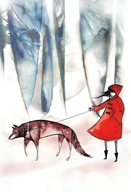 little red riding hood 85x11 print by esan01 on Etsy, $18.00