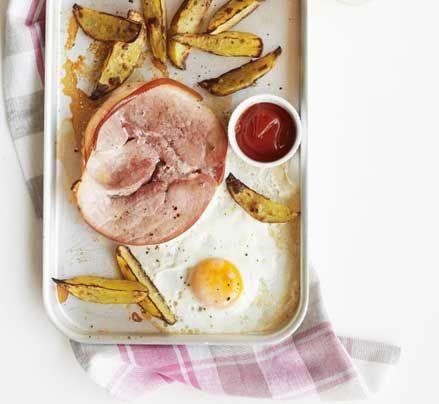 Ham, Egg, & potato for Dinner of One