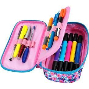 estojo escolar com porta canetas                                                                                                                                                      Mais