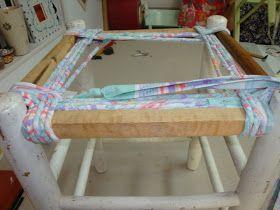 Les nouvelles croix de symiote: Rempaillage de chaise en tissu