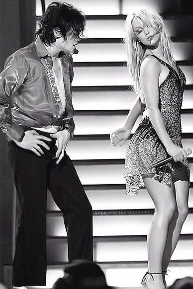 """The Michael Jackson: 30th Anniversary Special was a 2001 New York City revue show by Michael Jackson. It took place on September 7, 2001 and September 10, 2001. Here Michael performing the song """"The way you make me feel"""" with singer Britney Spears."""