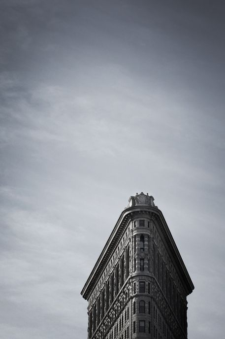 nyc. the flatiron building is the best architecture ever. i literally love this building.