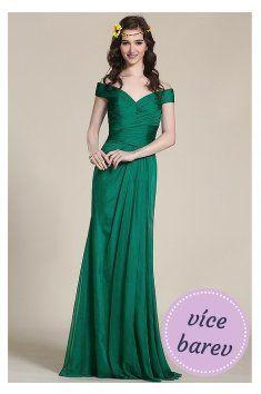 Společenské šaty se širokým V výstřihem Jednoduchost, elegance a nadčasovost společenské šaty se skládaným živůtkem a lehkou splývanou sukní široký V výstřih inspirovaným střihem svatebních šatů Jackie Kennedy Na skládaný živůtek navazuje asymetricky nařasená splývavá sukně Šaty nemají žádné zdobení a tak si je můžete přizpůsobit pro každou příležitost jinak Všité podprsenkové košíčky umožňují nosit šaty bez podprsenky