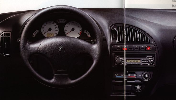 https://flic.kr/p/G7BXoe | Citroen Saxo interior; 1999, 2000, 2002_3 | car brochure by worldtravellib World Travel library