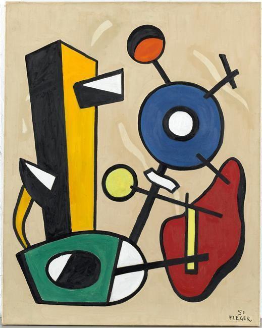 'formes dans espace', 1950 de Fernand Leger (1881-1955, France)
