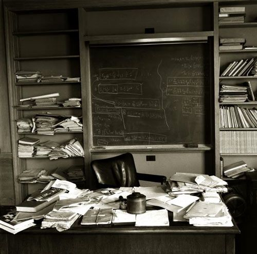 Heres Ralph Morses Famous Photograph Of Albert Einsteins Office Just As The Nobel Prize Winning Physicist Left It Taken Mere Hours After Einstein