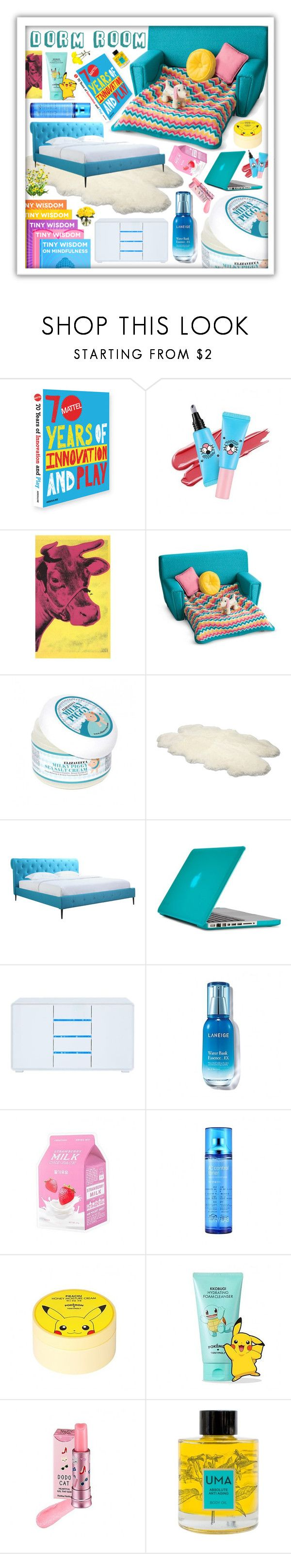 """""""Teal Dorm room!"""" by beanpod ❤ liked on Polyvore featuring interior, interiors, interior design, home, home decor, interior decorating, Assouline Publishing, Andy Warhol, SkinCare and UGG Australia"""