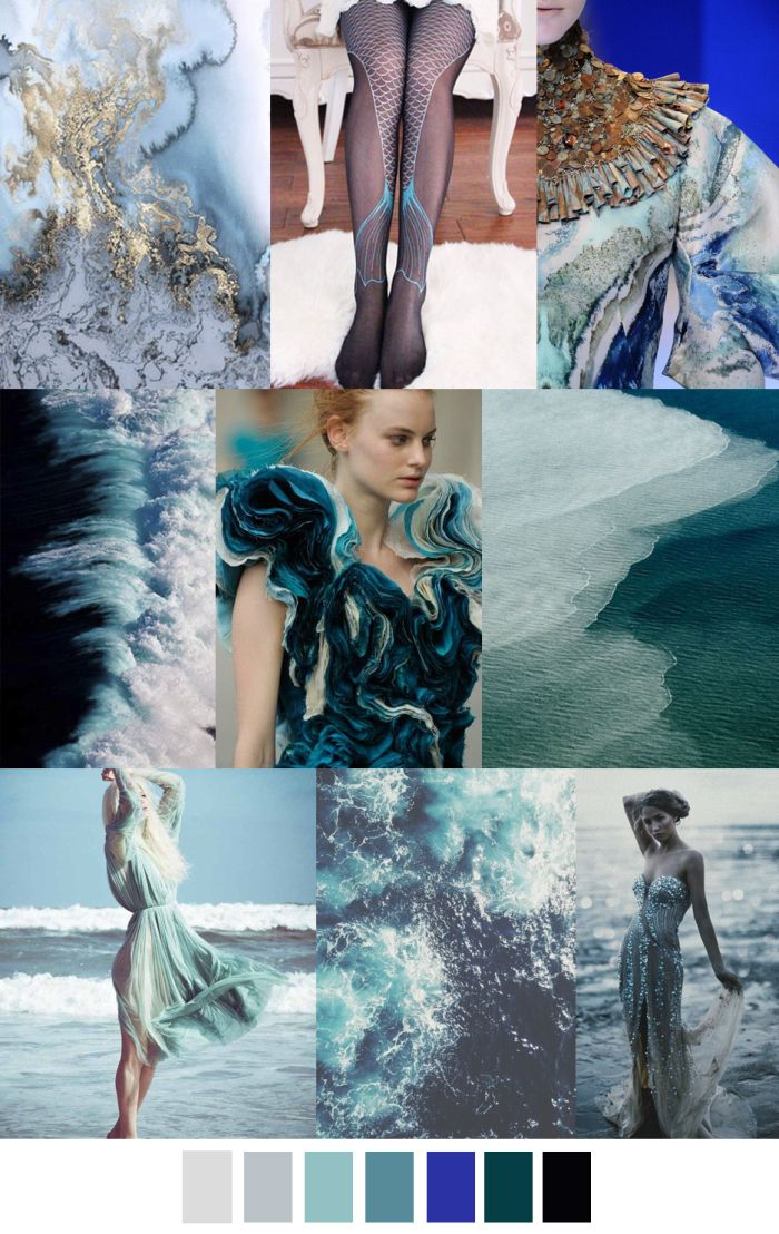 9 Best Marine Life Textiles Inspired Moodboard Images On