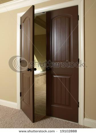 Dark wood double doors - yes! (Just minus that white trim.) & 19 best Doors images on Pinterest | Doors Double front entry ... Pezcame.Com