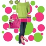 Pink & Green outfit: Green Outfits