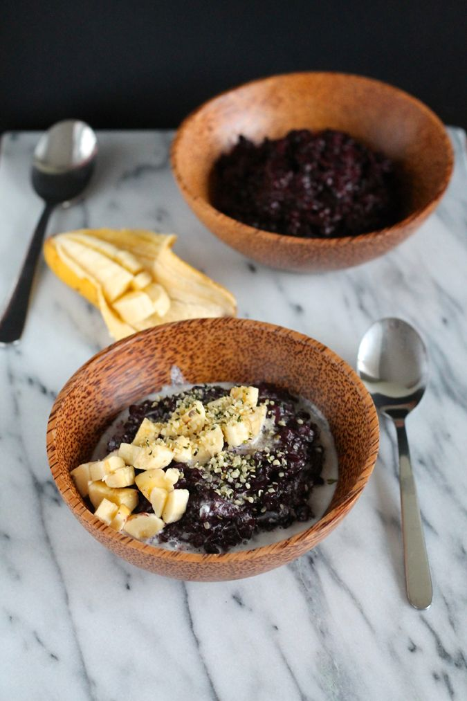 A luscious black rice pudding made with coconut milk and palm sugar. Vegan and gluten free, this is a special Indonesian breakfast.