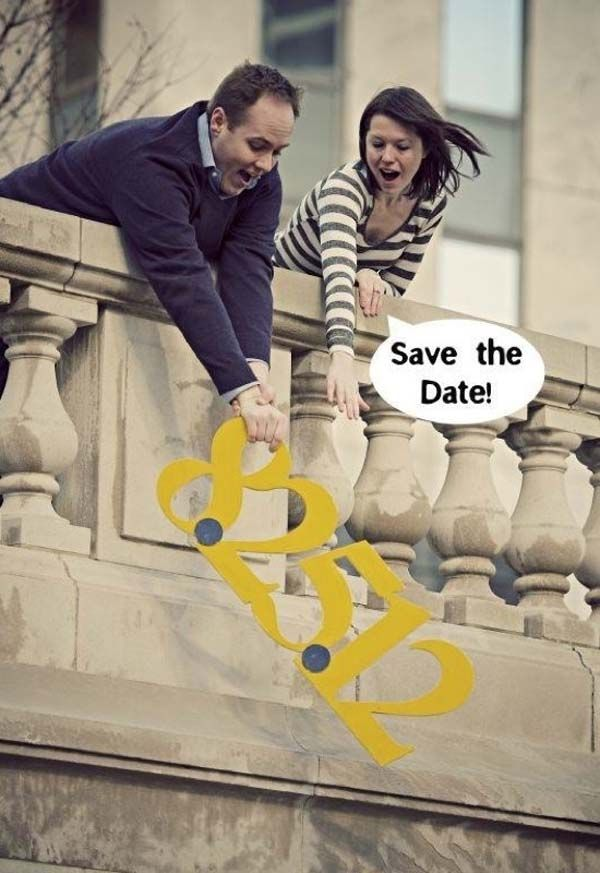 1.) Make a hilarious save-the-date