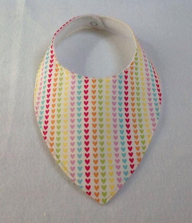 Rainbow Hearts Dribble Bib £3.00
