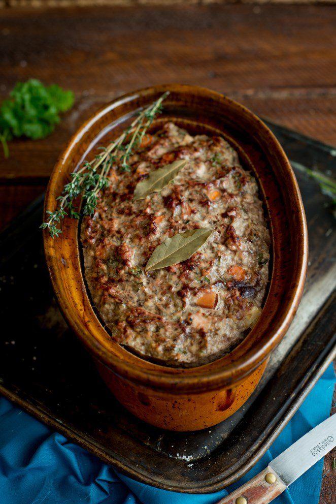 Hähnchen Terrine mit Zucchini und Cidre fleisch herbst rezepte ostern vorspeisen weihnachten Französisch Kochen by Aurélie Bastian