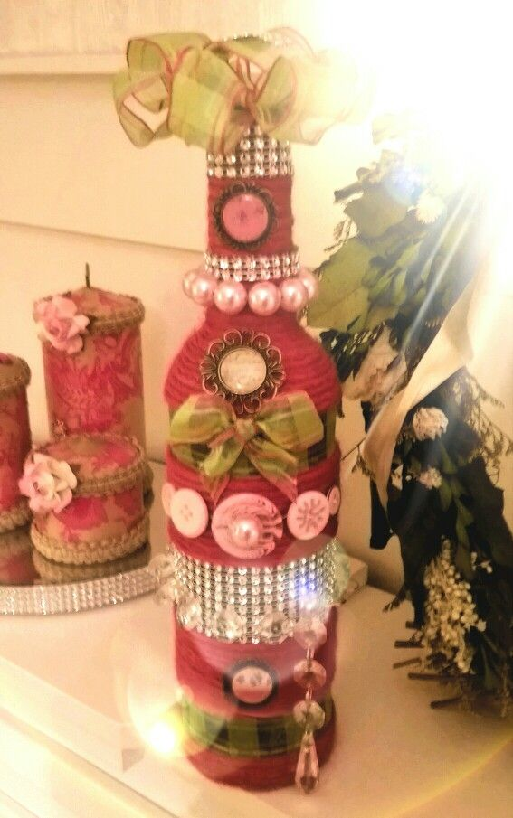 Wine bottle's designed . Mothers day gifts .  Decorative wine bottles .