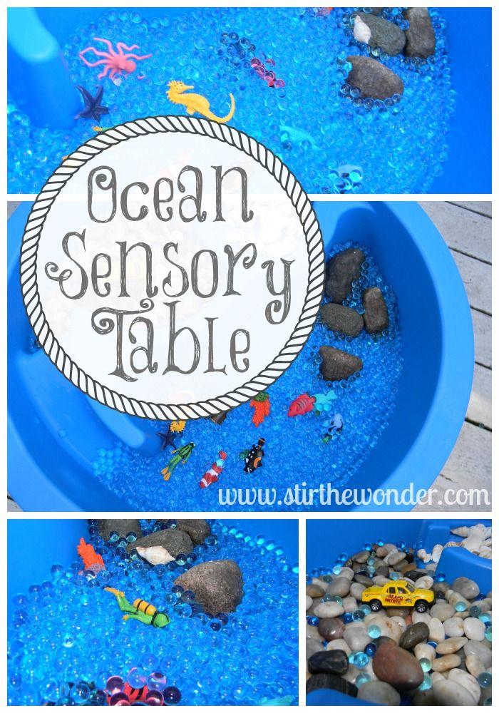 Ocean Sensory Table | Stir the Wonder #kbn #sensory #ocean